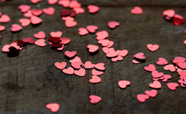 Glitter hearts Stock Image
