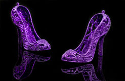 Glitter high heels Stock Photography