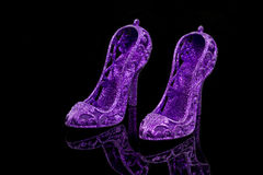 Glitter high heels Royalty Free Stock Image