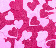Glitter Hot Pink Hearts. Background. Valentines Day Royalty Free Stock Images