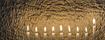 Glitter light of candles Royalty Free Stock Photo