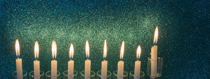 Glitter light of candles stock image