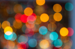 Glitter lights as colorful blurs Royalty Free Stock Photos