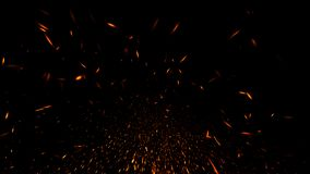 Glitter lights background. Abstract fire particles lights texture or background overlays. Design element royalty free illustration