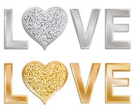 Glitter love vector illustration