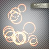 Glitter magic sparkle swirl trail effect. On transparent background. Bokeh glitter round wave line with flying sparkling flash lights. Vector 10 EPS Stock Photos