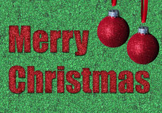 Glitter and merry christmas royalty free stock image