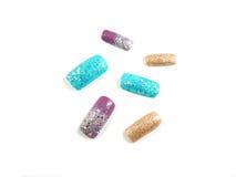 Glitter nail art Royalty Free Stock Photo