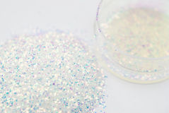 Glitter for nail art Stock Photos