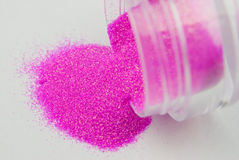 Glitter for nail art Royalty Free Stock Image