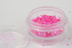 Glitter for nail art Royalty Free Stock Images
