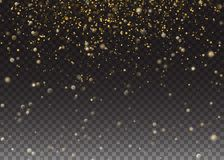 Glitter particles effect. Gold glittering Space star dust trail sparkling. Vector illustration Transparent Background Royalty Free Stock Photos