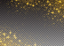 Glitter particles effect. Gold glittering Space star Royalty Free Stock Photos