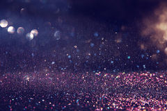 glitter purple and silver lights background Stock Image