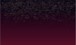 Glitter rain background with purple darkness stock illustration