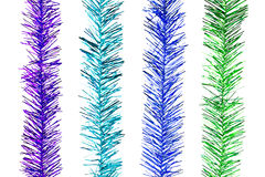 Glitter Rainbow Stripes for Christmas Decoration Stock Photos