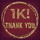 Luxury followers thank you vector glitter gold stock illustration