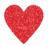 Glitter Red Heart isolated on white. Valentines Day Stock Photos