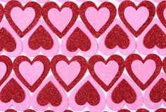 Glitter Red and Pink Hearts. Background. Valentines Day Stock Images