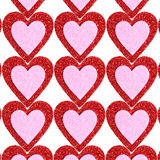 Glitter Red and Pink Hearts. Background. Valentines Day Royalty Free Stock Photos