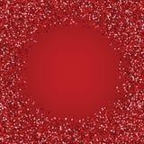 Glitter red round frame. Stock Photos