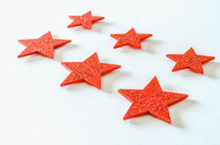 Glitter red stars Royalty Free Stock Photo