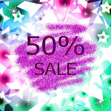 Glitter sale abstract  background Royalty Free Stock Photo
