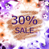 Glitter sale abstract  background Royalty Free Stock Photography