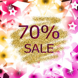 Glitter sale abstract  background Stock Photos