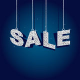 Glitter sale tags Royalty Free Stock Images