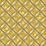 Glitter seamless background. Sparkle glitter geometric background. Seamless vector illustration Stock Image