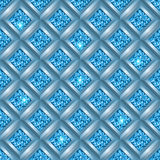 Glitter seamless background. Sparkle glitter geometric background. Seamless vector illustration Stock Photography
