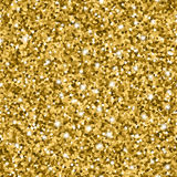 Glitter seamless pattern with golden circles and shiny sparkles Royalty Free Stock Photography