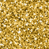 Glitter seamless pattern with golden circles and shiny sparkles Stock Photography