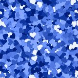Glitter seamless texture. Actual blue particles. Endless pattern made of sparkling hearts. Great abs. Tract vector illustration vector illustration