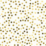 Glitter seamless texture. Actual gold particles. Endless pattern made of sparkling circles. Beauteou. S abstract vector illustration royalty free illustration