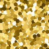 Glitter seamless texture. Actual gold particles. Endless pattern made of sparkling circles. Bold abs. Tract vector illustration stock illustration