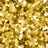 Glitter seamless texture. Actual gold particles. Endless pattern made of sparkling hearts. Magnetic. Abstract vector illustration vector illustration