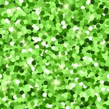 Glitter seamless texture. Actual green particles. Endless pattern made of sparkling circles. Comely. Abstract vector illustration stock illustration