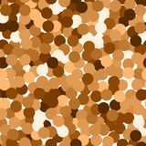Glitter seamless texture. Actual red gold particles. Endless pattern made of sparkling circles. Fant. Astic abstract vector illustration stock illustration