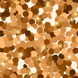 Glitter seamless texture. Actual red gold particles. Endless pattern made of sparkling circles. Fetc. Hing abstract vector illustration royalty free illustration