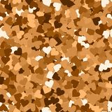 Glitter seamless texture. Actual red gold particles. Endless pattern made of sparkling hearts. Super. B abstract vector illustration Vector Illustration