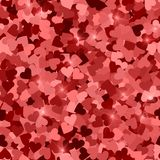 Glitter seamless texture. Actual red particles. Endless pattern made of sparkling hearts. Stunning a. Bstract vector illustration vector illustration