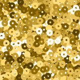 Glitter seamless texture. Admirable gold particles. Endless pattern made of sparkling sequins. Aweso. Me abstract vector illustration stock illustration