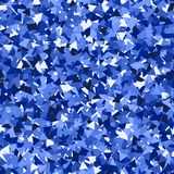 Glitter seamless texture. Adorable blue particles. Endless pattern made of sparkling triangles. Glam. Orous abstract vector illustration Stock Illustration
