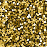 Glitter seamless texture. Adorable gold particles. Endless pattern made of sparkling squares. Artist. Ic abstract vector illustration Stock Illustration