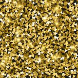 Glitter seamless texture. Adorable gold particles. Endless pattern made of sparkling triangles. Incr. Edible abstract vector illustration royalty free illustration