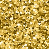 Glitter seamless texture. Adorable gold particles. Endless pattern made of sparkling triangles. Inte. Resting abstract vector illustration royalty free illustration