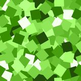 Glitter seamless texture. Adorable green particles. Endless pattern made of sparkling squares. Bewit. Ching abstract vector illustration stock illustration