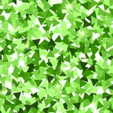 Glitter seamless texture. Adorable green particles. Endless pattern made of sparkling triangles. Maj. Estic abstract vector illustration royalty free illustration